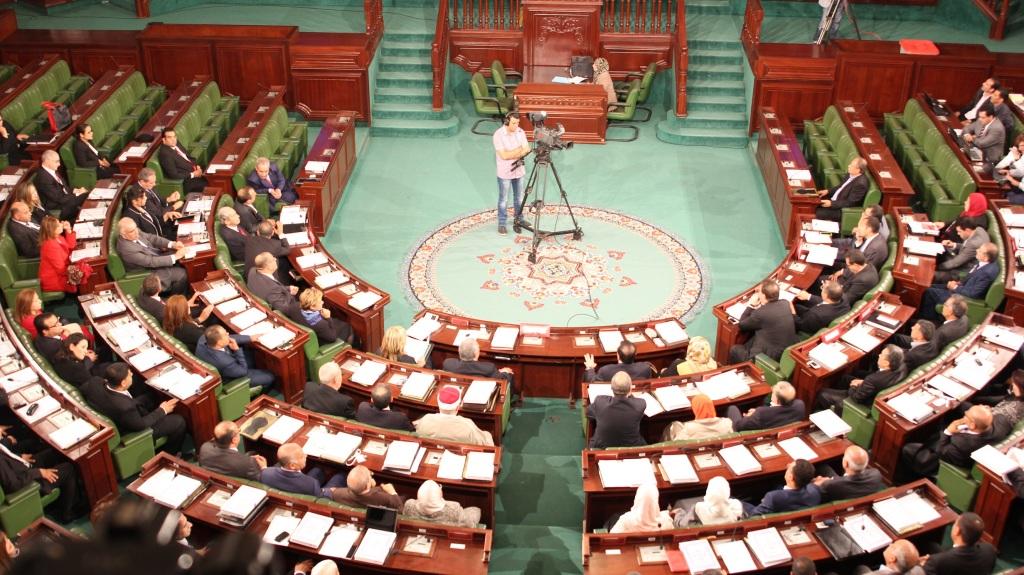 Première séance plénière de l'Assemblée des Représentants du Peuple au Palais Bardo